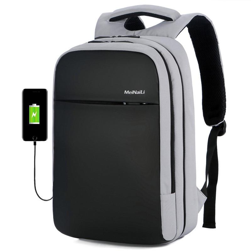 Male USB Charging Laptop Backpack Multifunction School Bags For Teenagers Large Capacity Waterproof Men Travel Backpack mochila