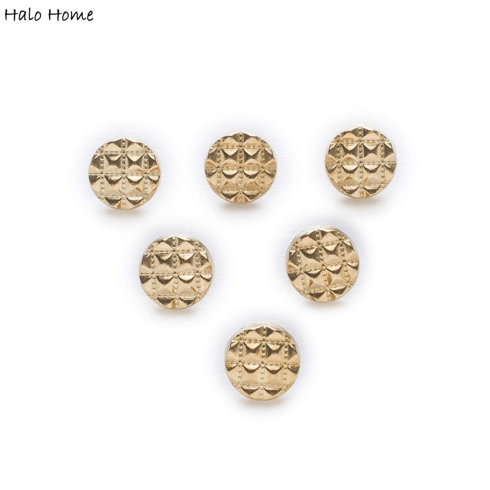 10pcs Cone Metal Shank Fabric Covered Buttons Shirt Clothing Sewing Decor Replace Sewing Garment Supplies Accessor 10mm