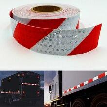 5 cm X 25 m Yansıtıcı Bant Çıkartmalar Oto Kamyon Pickup Güvenlik Yansıtıcı Malzeme Filmi Uyarı Bandı Araba Styling Dekorasyon