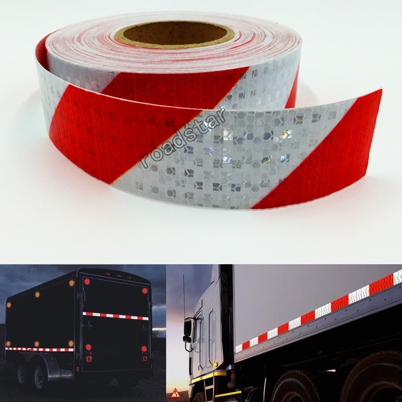 5cmX25m Reflective Tape Stickers Auto Truck Pickup Safety Reflective Material Film Warning Tape Car Styling Decoration reflective front mitsubishi shelf reflective car stickers ling yue v3 lancer car stickers