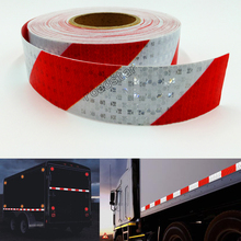 5cmX25m Reflective Tape Stickers Auto Truck Pickup Safety Reflective Material Film Warning Tape Car Styling Decoration 3m reflective tape reflective cloth sewing clothing textiles bath diy safety reflective material one pc 1 meter
