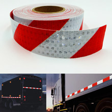 5cmX25m Reflective Tape Stickers Auto Truck Pickup Safety Reflective Material Film Warning Tape Car Styling Decoration(China)