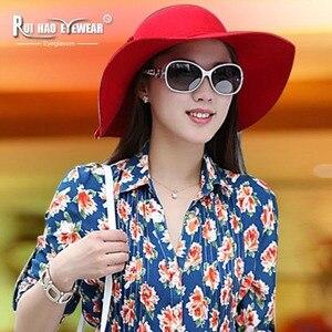 Image 2 - Fashion Polarized Sunglasses Women Glasses Leisure Shopping Polarized Driving Sun Glasses Rui Hao Eyewear Brand