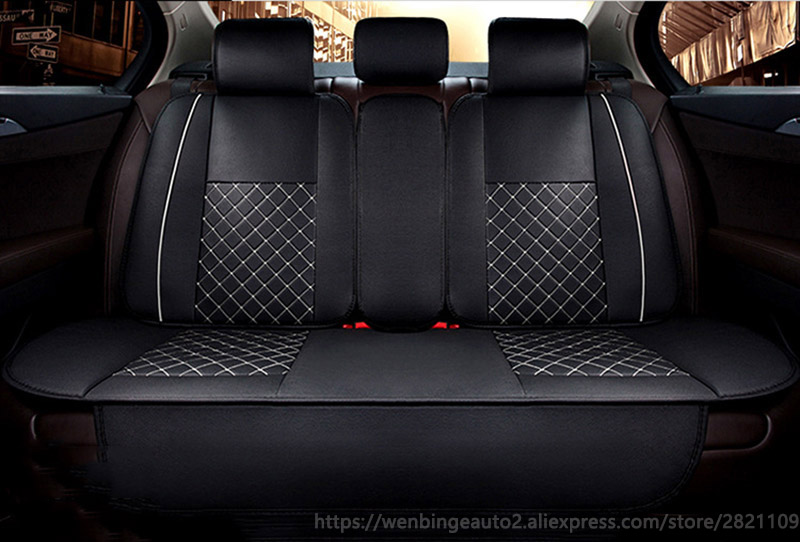only car rear seat covers For Mazda 3 6 CX-5 CX7 323 626 M2 M3 M6 Axela ATENZA Familia auto accessories car styling 3D Black