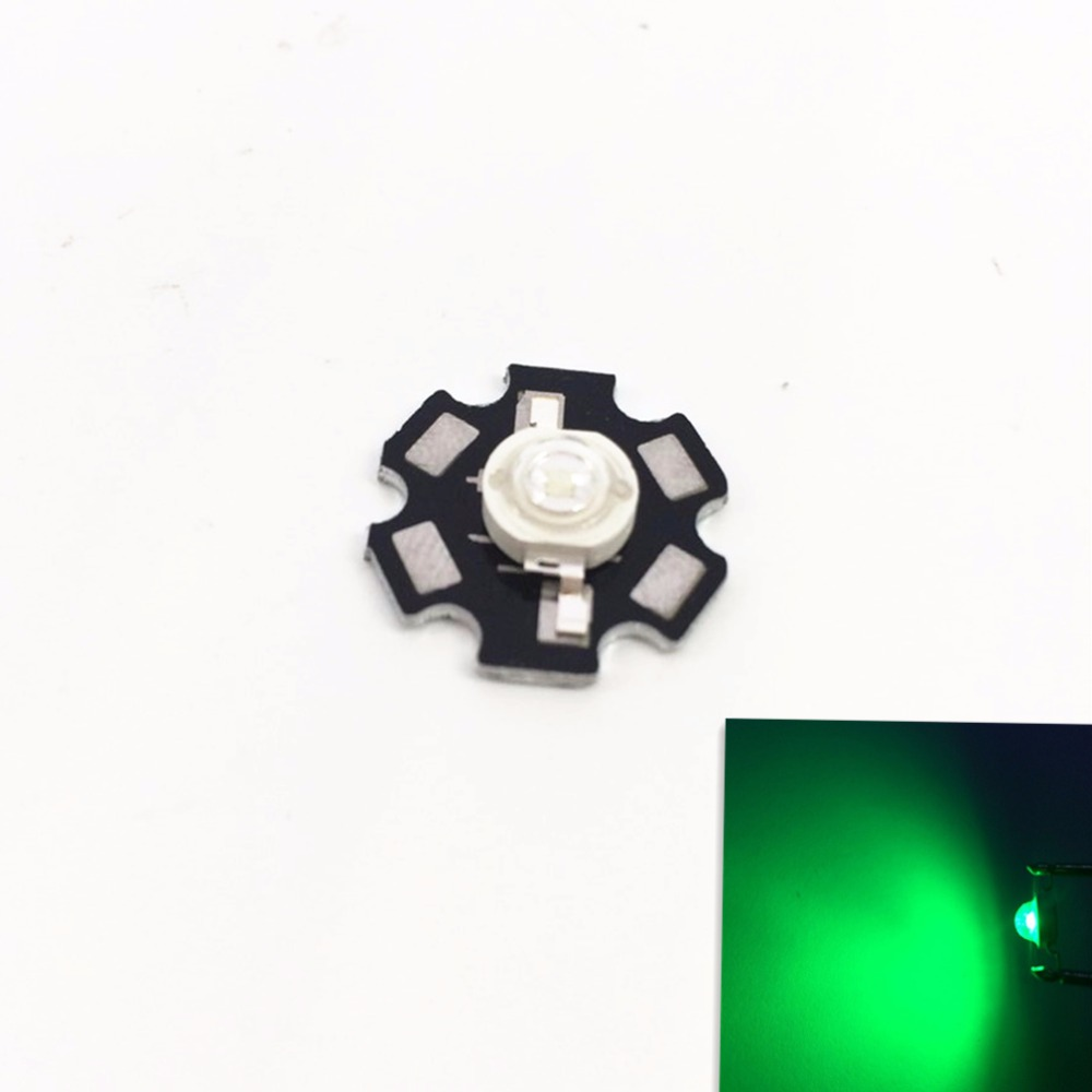 10 pcs High Power 3w LED Diodes Green 520nm~530nm LED Lamp Chip Light Lamp With 20mm / PCB Board