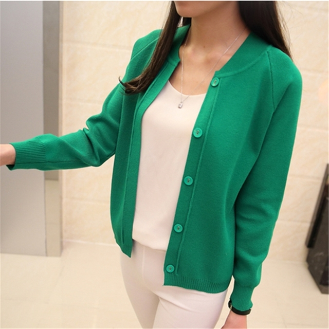 Autumn spring New style Women Cardigan Sweater Female O-Neck Knitted Coat Slim Sweater big yards Size 11 Colors  ZZS-72-30