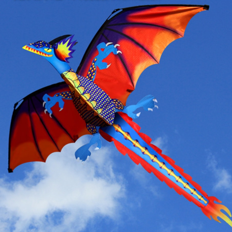New 3D Dragon Kite With Tail Kites For Adult Kites Flying Outdoor 100m Kite Line image