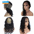 360 Кружева Фронтальная Закрытие С Пучками 8А Класса Бразильские Девы человеческие Волосы 2 шт. Объемной Волны Weave С Закрытие Фронтальной Кружева группа