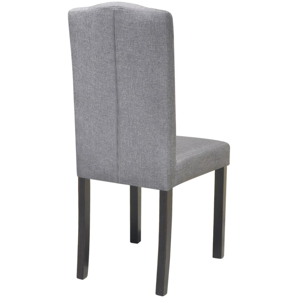 Ikayaa 2 unids gris oscuro tela sillas tapizadas con respaldo silla ...