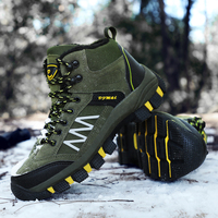 Homass Hiking Boots Non slip Waterproof Ankle Tactical Boots Outdoor Short Plush Sneakers Men Mountain Climbing Timber Land Boot