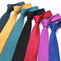 Мужчины Мода Бархатный Галстук Сплошной Цвет 6 СМ Тощий Бизнес Свадьба Галстук TSBWT0080