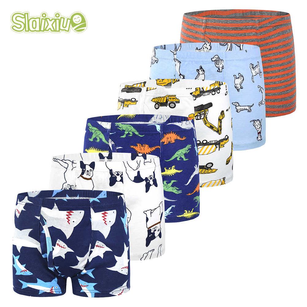 Комплект детских трусов для мальчиков, комплект детского нижнего белья из 6 предметов для мальчиков: трусы-боксеры для детей от 2 до 10 лет, мягкие трусы из натурального хлопка для подростков