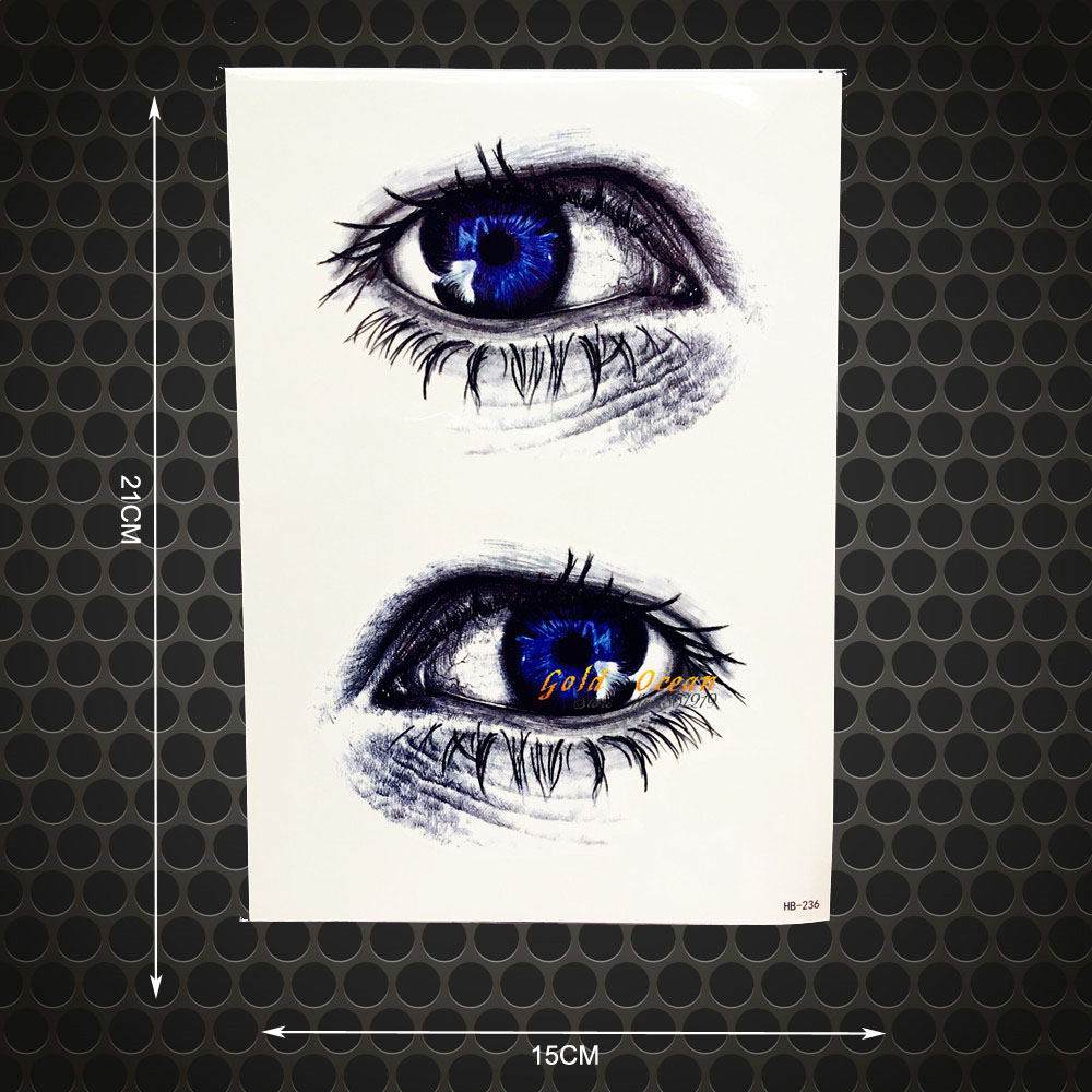 Straightforward 1pc Latest 3d Eye Designs Fake Waterproof Tattoo Stickers Ghb-236 Blue Eye Pattern Flash Removable Tattoo Paste Summer Style Catalogues Will Be Sent Upon Request Tattoo & Body Art
