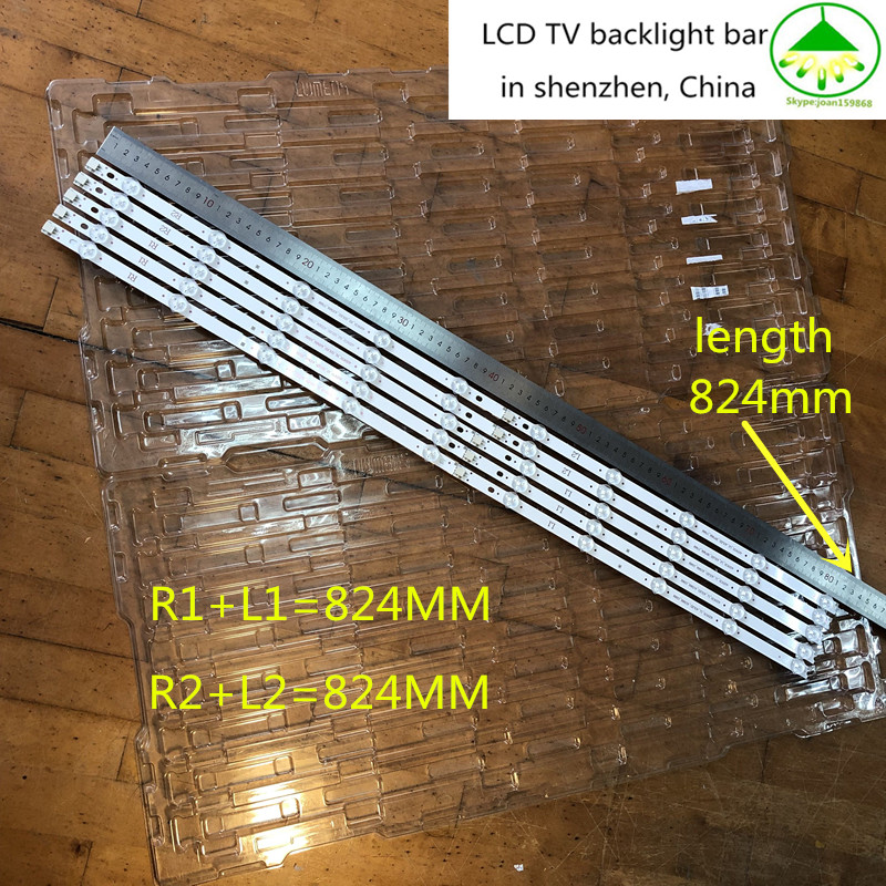 New 5set=50pcs LED Backlight Strip Replacement FOR LG 42LN5300 6916L-1214A 1215A 6916L-1216A 1217A 6916L-1385A 1386A 1387A 1388A