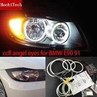 HochiTech BEYAZ 6000 K CCFL Far Halo Melek Iblis Gözler Kiti angel gözler BMW 3 Serisi E90 E91 05-08 Için ışık Halojen far