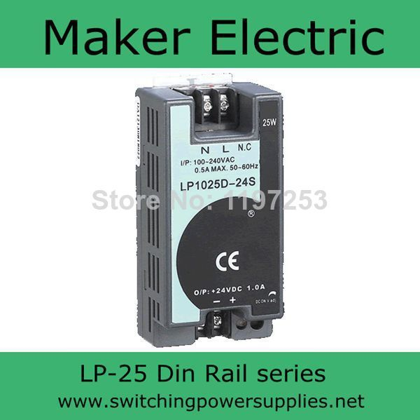 CE certified 24V 25W din rail power supply LP-25-24 switching power supply high efficiency cheap price din rail switching power source supply 75watts dr 75 24 3 2a 24v with ce certification china