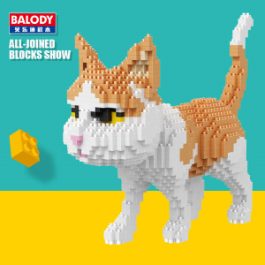 Image 3 - In stock Balody  16038 16036 16037 16039 1 Diamond Building Blocks Brick Pet cat Animal Model Assembly For Children Kids Gifts