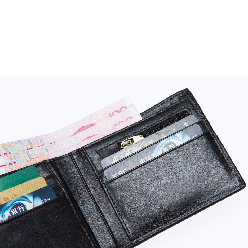 WESTAL plånbok manlig äkta läder kort plånbok män Vintage Cow - Plånböcker - Foto 6