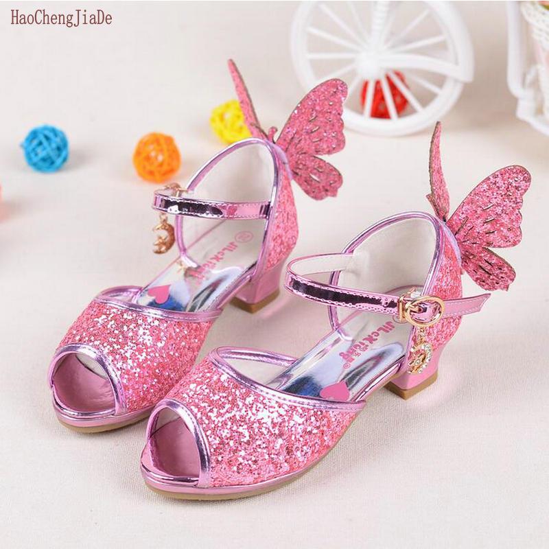 2018 Zomer mode kinderen sandalen kinderen PU dansen prinses schoenen - Kinderschoenen - Foto 2