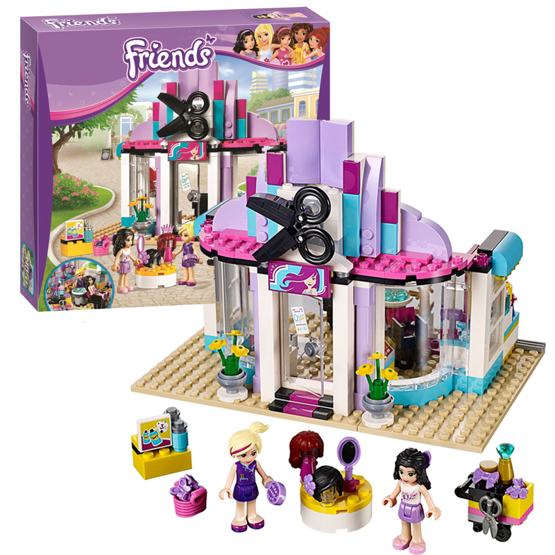 Bela 10539 Friends Heartlake Hair Salon building bricks blocks Toys for children Girl Game Compatible with Decool Lepin 41093 lepin 22001 imperial flagship building bricks blocks toys for children boys game model car gift compatible with bela decool10210