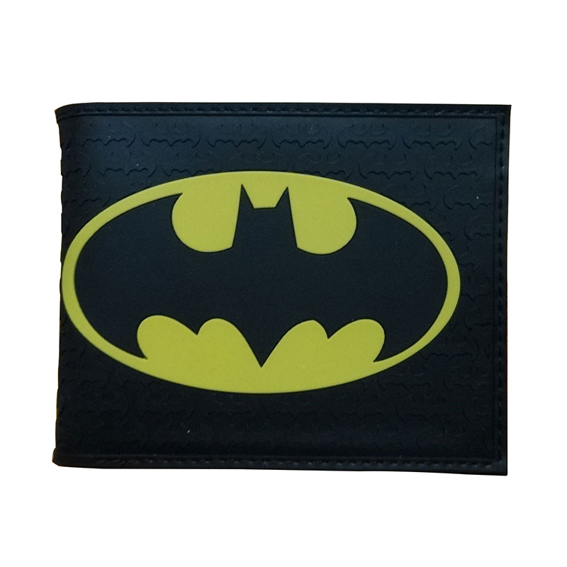 Comics DC Marvel Summer Style Men Wallet PVC Batman Anime Purse Handbag Black Color Gentle Man Fashion Collection Gift Wallets
