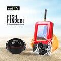 Outlife Смарт Портативный Глубина Эхолот с 100 М Беспроводной Sonar Датчика эхолот Fishfinder для Озера Рыбалка