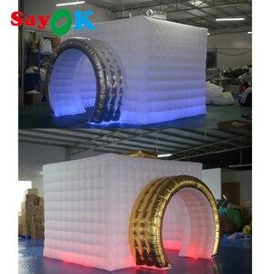 Image 4 - Yeni stil kamera şekli şişme fotoğraf kabini şişme çadır düğün Booth düğün reklam için parti olay (1 ücretsiz Logo)