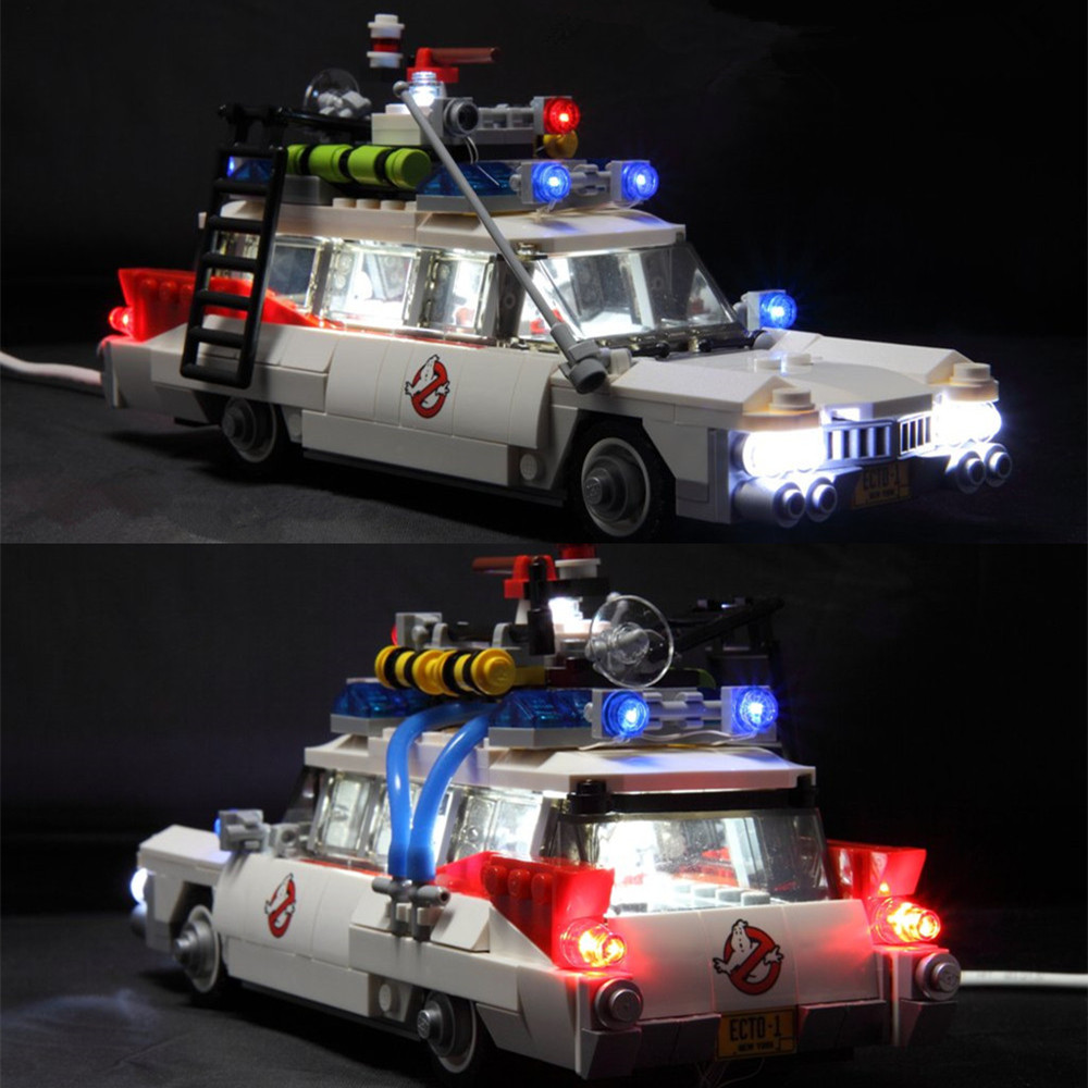 Led Light Kit For lego 21108 Ghostbusters Ecto-1 Building Blocks Model Led Light Kit For lego 21108 Ghostbusters Ecto-1 Building Blocks Model