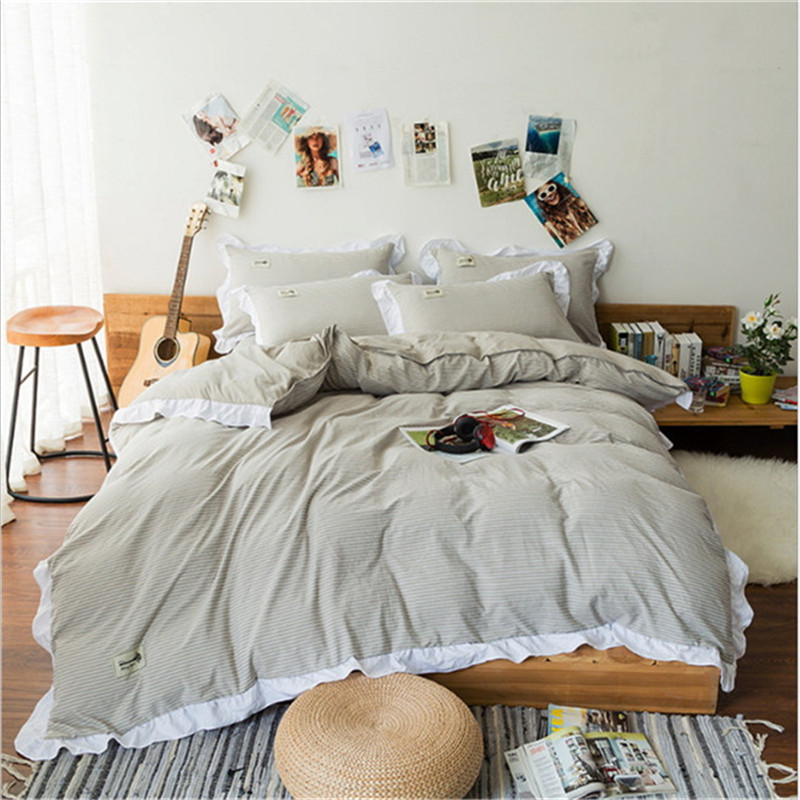luxury Stripe design High quality bedding  4pcs 1pcs quilt cover/1pcs bed sheet/2pcs pillowcase free shippingluxury Stripe design High quality bedding  4pcs 1pcs quilt cover/1pcs bed sheet/2pcs pillowcase free shipping