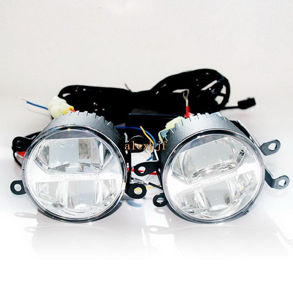 Йейтса 1400 ЛМ 24ВТ Светильник тумана СИД, высокая и низкая Лампа + 560LM ДХО Чехол для Subaru глубинке БРЗ 2013~на Импреза 5Д/ХV 2011~на