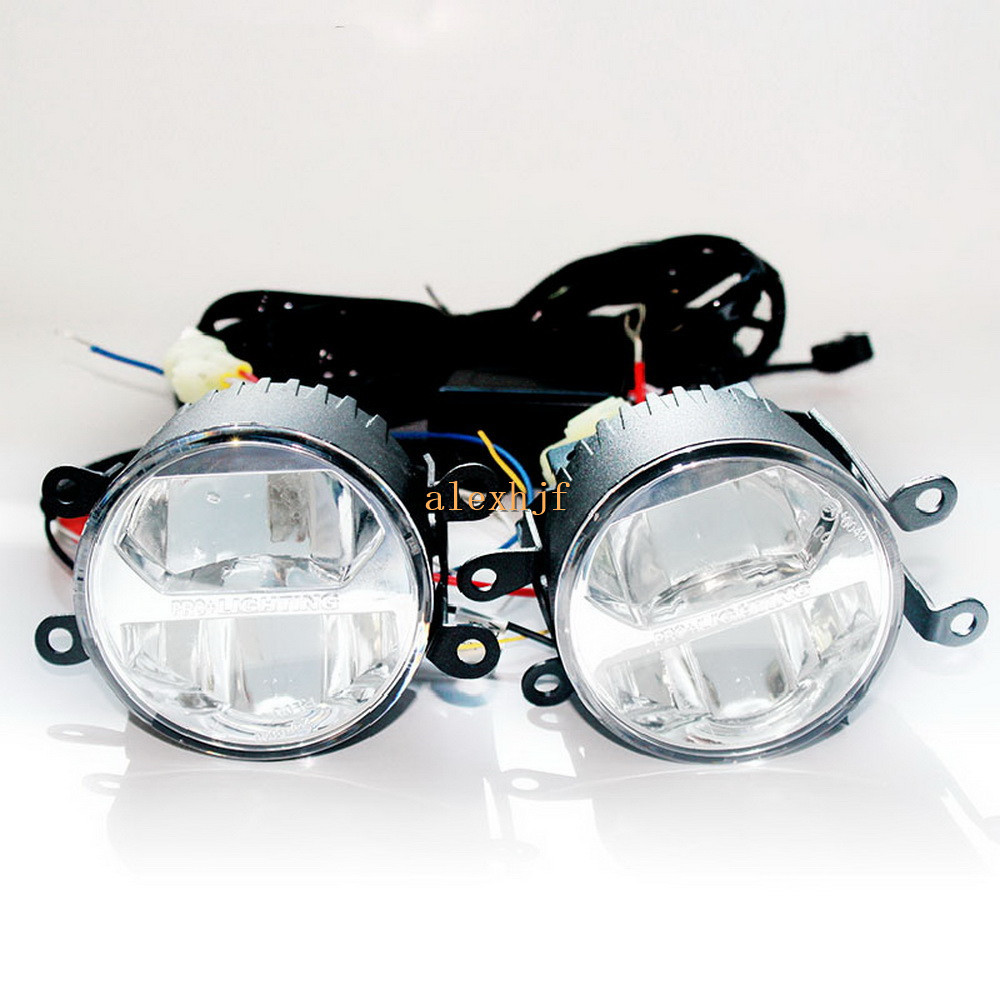 Yeats 1400LM 24W LED Fog Lamp, High and Low Lamp + 560LM DRL Case For Subaru Forester Outback BRZ 2013~17 Impreza 5D/XV 2011~ON