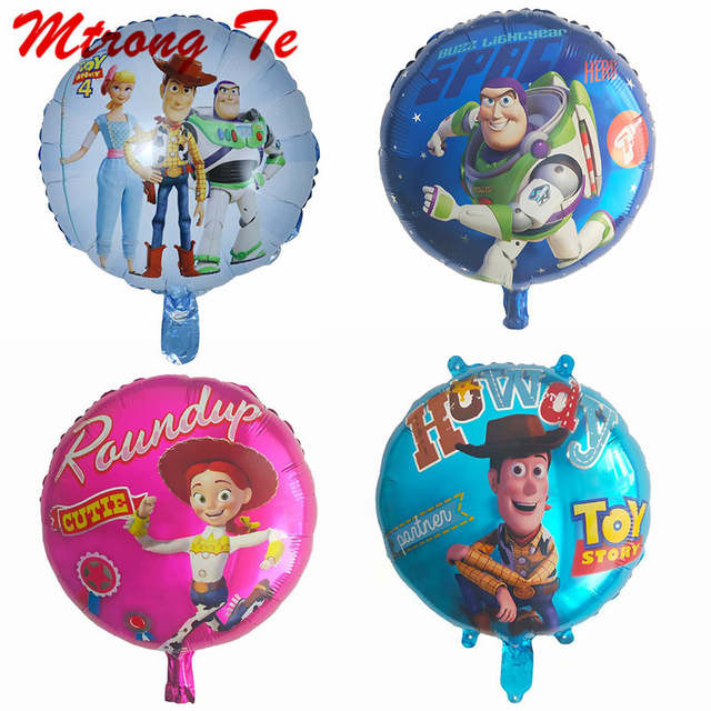 "4 x 18/"" Toy Story Woody /& Buzz lightyear Foil Mylar Balloon Party Supplies"