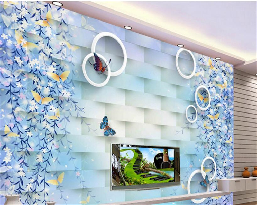 online buy wholesale garden wall murals from china garden wall beibehang senior dream water garden flower vine butterfly stereo wall murals papel de parede 3d wallpaper