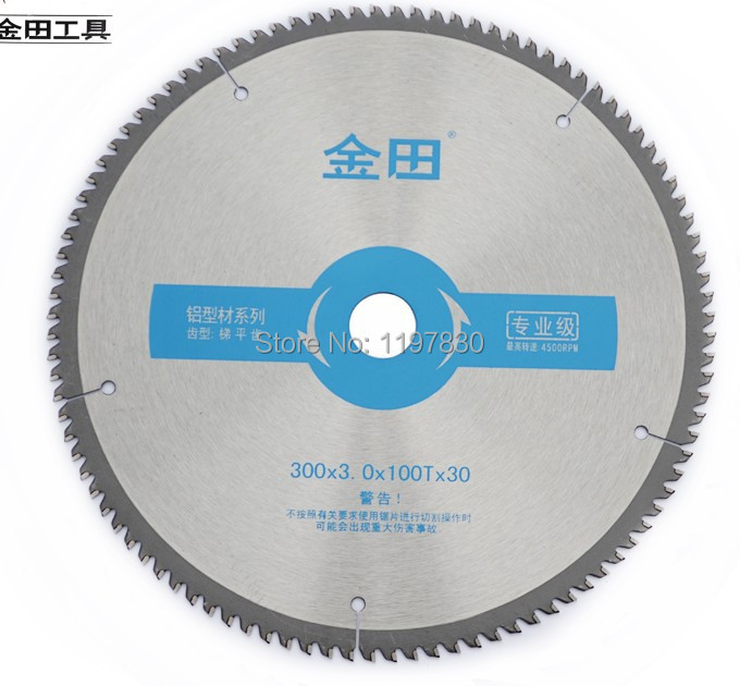 Free shipping Professional quality 300*30/25.4*3.0*100T TCG teeth TCT saw blade Non ferrous metal aluminum copper cutting blades 10 80 teeth t8a high carbon steel saw blade for expensive wood free shipping nwc108ht12 250mm super thin 1 2mm cut disk