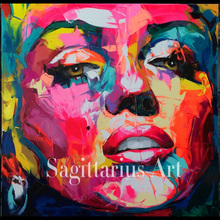 Hand Painted Abstract Marilyn D From The Francoise Nielly Knife Palette oil Paintings Art Oil Canvens Decoration Cool Face Art