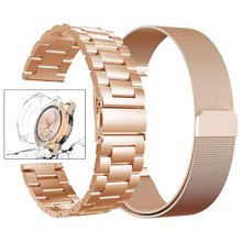 22mm/20mm watch band for samsung galaxy watch active 46mm gear S3  Frontier strap stainless steel watchband metal bracelet+case цена