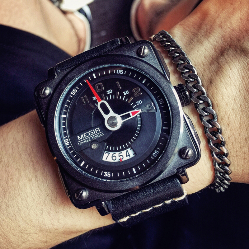 MEGIR Mens Fashion Military Quartz Watch Waterproof Sports Watches Men Luxury Brand Wristwatches Male Clock Relogio Masculino new listing men watch luxury brand watches quartz clock fashion leather belts watch cheap sports wristwatch relogio male gift