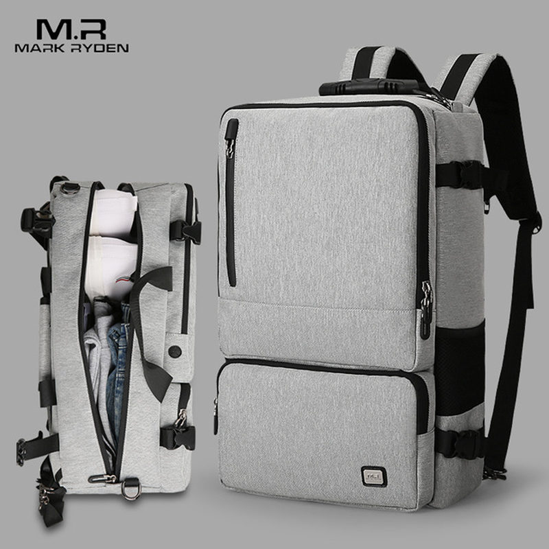 Mark Ryden Men High Capacity Anti theft Travel Design Backpack Suitable for 17 inch Laptop Bag Large Capacity Business Travel Ba-in Travel Bags from Luggage & Bags    1