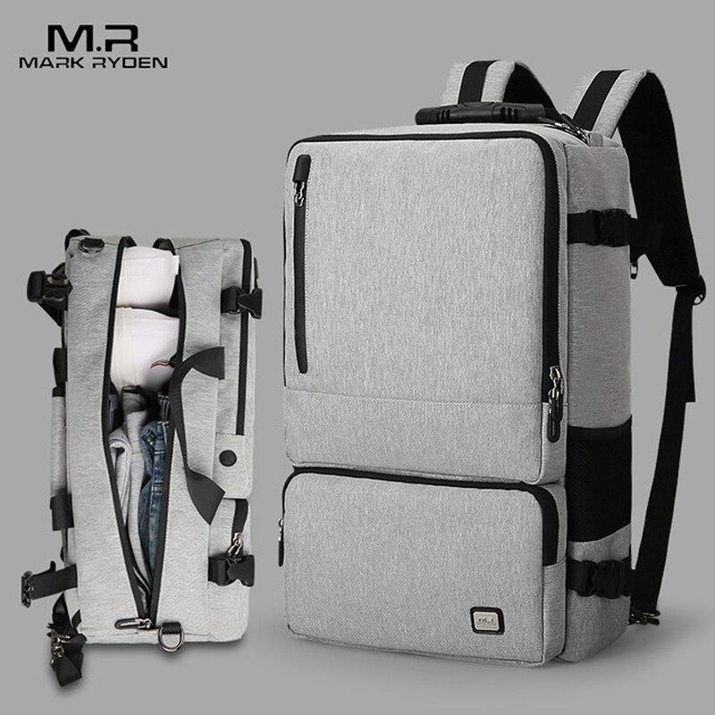 Mark Ryden hommes haute capacité Anti-vol voyage Design sac à dos adapté pour 17 pouces pochette d'ordinateur grande capacité voyage d'affaires Ba