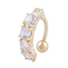 Пикантные висячие кольца для пупка Пирсинг живота фианиты ювелирные