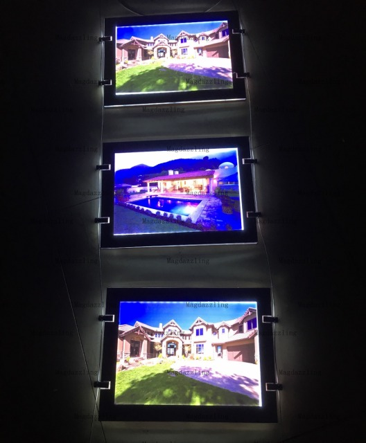 A4 Magnetic Open Acrylic Frame Led Lighting Window Displays Light