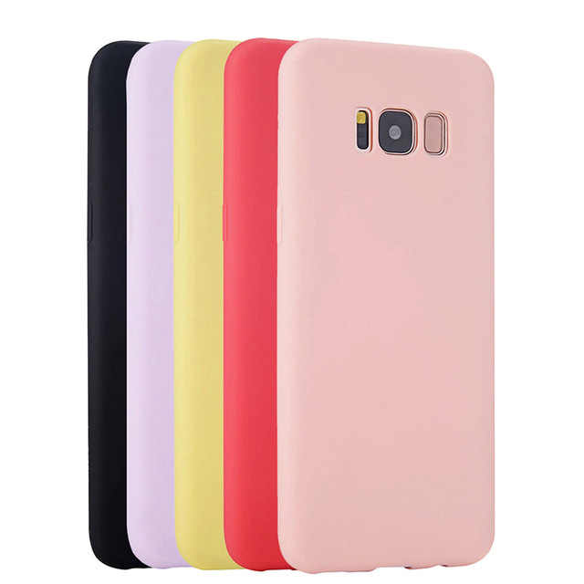 Soft Case Silikon untuk Samsung Galaxy S8 Plus S6 S7 Edge S4 S3 S5 Neo A3 A5 A7 2015 2016 catatan 3 4 5 8 Back Cover Casing