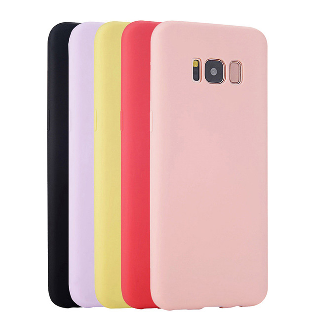 Soft Silicone Case For Samsung Galaxy S8 Plus S6 S7 Edge S4 S3 S5 Neo A3 A5 A7 2015 2016 Note 3 4 5 8 Back Cover Casing