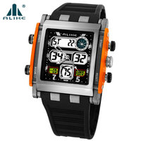 2013 Newest Sport Digital Watch With Weather Forcast Exquisite Anike Dual Time Mode Backlight Watch 4Colors