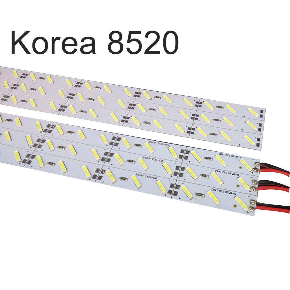 Hot Sales10pcs* 50cm Super Bright Hard Rigid Bar Light DC12V 36 Led SMD 8520 Aluminum Alloy Led Strip Light,red,blue,green Color