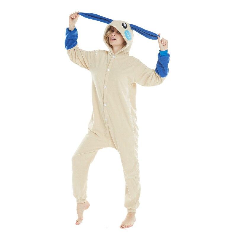 Pokemon Umbreon Kigurumi Onesies Costumes Men and women Hooded animal cartoon rabbit pajamas blue shark home lovers Jumpsuits