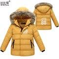 Парки для девочек зимой дети зимнее пальто мальчик черный длинные детей куртка для мальчика детская одежда мех куртку ветровку