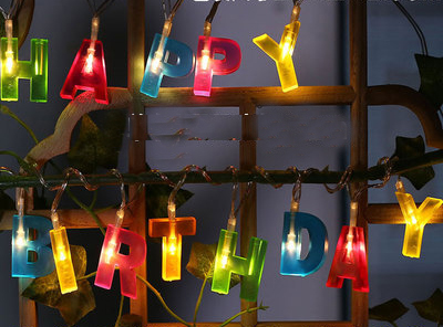 2019 New Design Letter Hy Birthday Lamp Led String Lights Home Kids Children Boys S Baby Shower Party Decoration In Diy Decorations