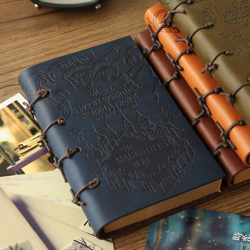 Vintage Thick notebook Diary Book Leather Agenda Travelers Handbook Stationery Office Material School Supplies BJB05