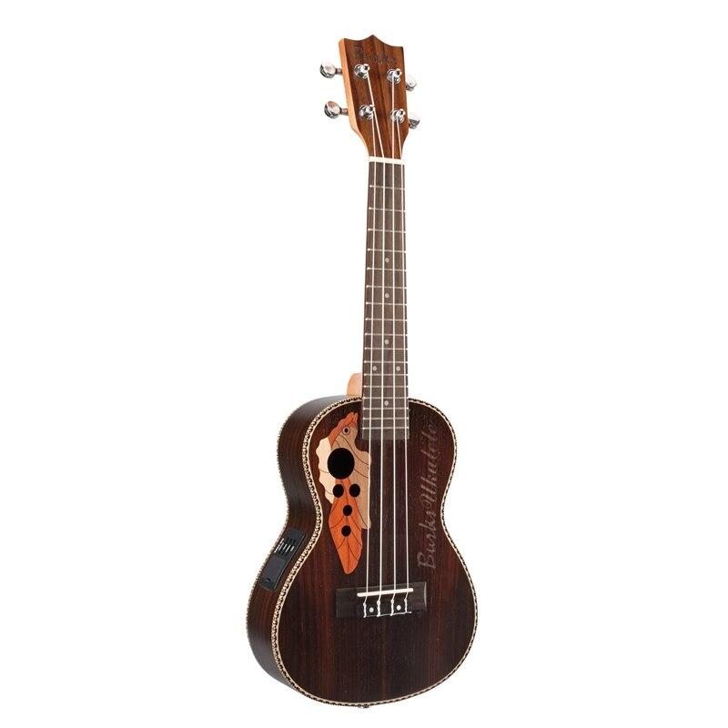 Burks ukulélé 23 pouces acoustique Ukelele épicéa ukulélé 4 cordes guitare avec intégré Eq pick-up cadeau de noël